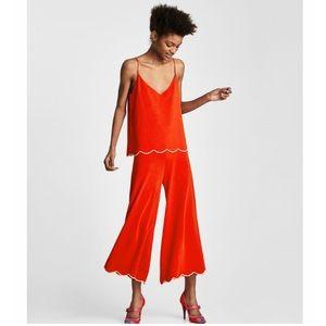 NWT Zara | Knitwear two piece scalloped set